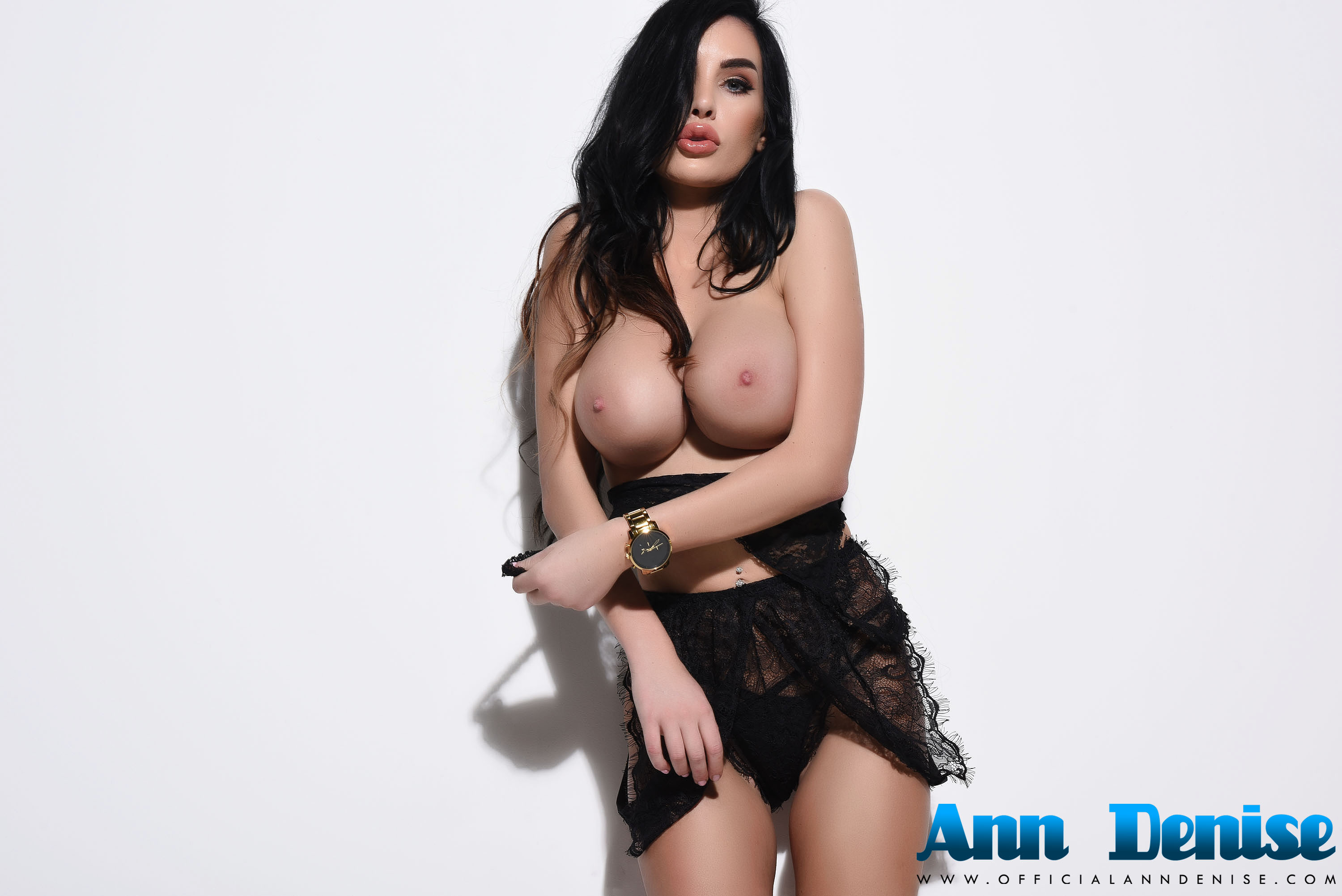Ann Denise Stripping Black See Through Lingerie